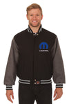 Dodge Mopar Embroidered Wool Jacket - Black/Grey