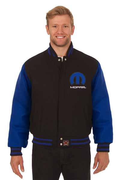 Dodge Mopar Embroidered Wool Jacket - Black/Royal