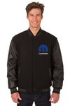 Mopar Wool & Leather Reversible Varsity Jacket - Black