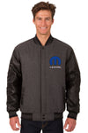 Mopar Wool & Leather Reversible Varsity Jacket - Charcoal/Black