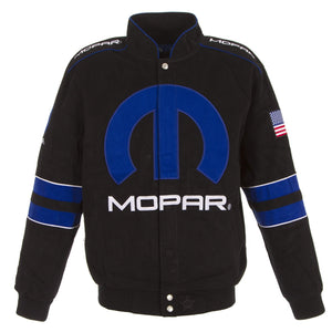 Dodge Mopar Generic Twill Jacket - Black/Royal - JH Design
