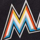 Miami Marlins Wool Jacket w/ Handcrafted Leather Logos - Black - JH Design