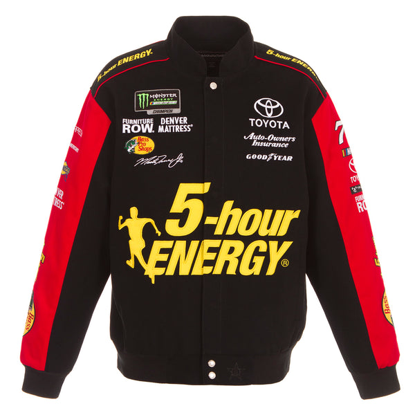 2018 Martin Truex Jr. 5 Hour Energy Nascar Twill Jacket - Black