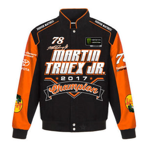 Martin Truex Jr 2017 Monster Energy  Cup Series Champion Jacket - Black - JH Design