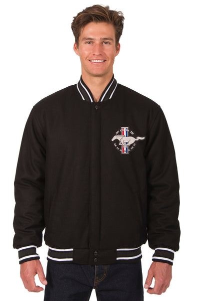 Mustang Wool Varsity Jacket - Black
