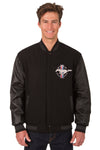 Mustang Wool & Leather Reversible Varsity Jacket - Black