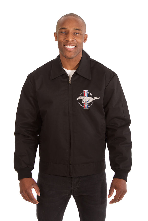 Mustang Cotton Twill Workwear Jacket - Black - JH Design