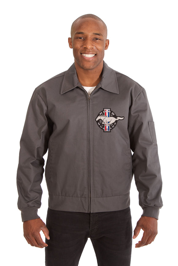 Mustang Cotton Twill Workwear Jacket - Charcoal - JH Design