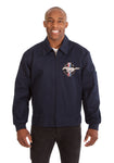 Mustang Cotton Twill Workwear Jacket - Navy