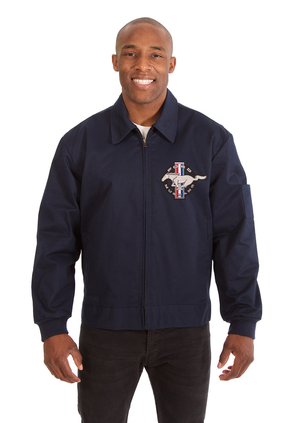 Mustang Cotton Twill Workwear Jacket - Navy - JH Design