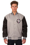 Mustang Poly Twill Varsity Jacket - Gray/Black