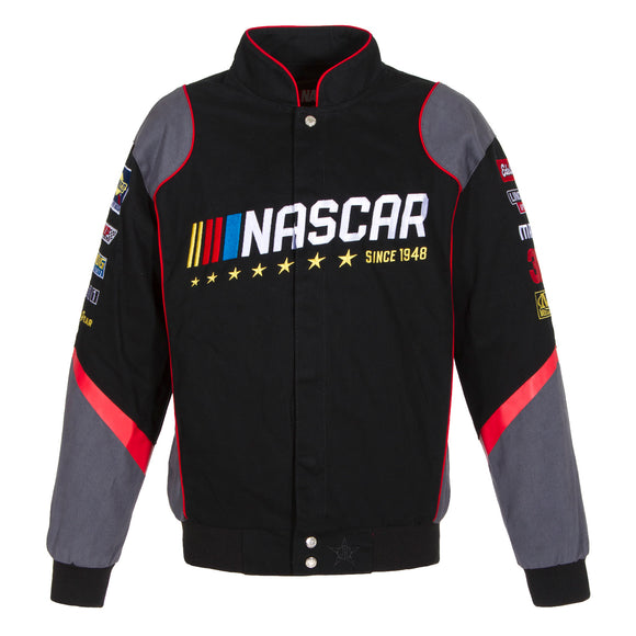 2018 Nascar Racing Generic Twill Jacket - Black - JH Design