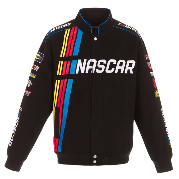 2020 NASCAR Racing Official Twill Jacket - Black - JH Design