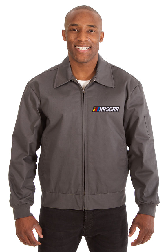 NASCAR Cotton Twill Workwear Jacket - Charcoal - JH Design
