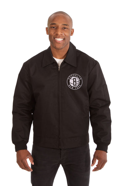 Brooklyn Nets Cotton Twill Workwear Jacket - Black