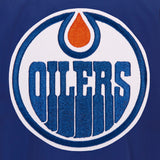 Edmonton Oilers JH Design Lightweight Nylon Bomber Jacket – Royal - JH Design