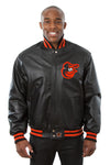 Baltimore Orioles Full Leather Jacket - Black