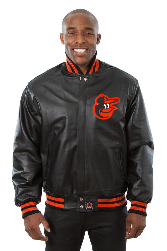 Baltimore Orioles Full Leather Jacket - Black - JH Design