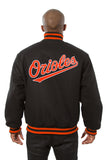 Baltimore Orioles Embroidered Wool Jacket - Black