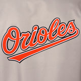 Baltimore Orioles Poly Twill Varsity Jacket - Gray/Black - JH Design