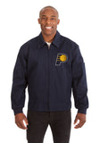 Indiana Pacers Cotton Twill Workwear Jacket - Navy - JH Design