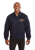 New Orleans Pelicans Cotton Twill Workwear Jacket - Navy - JH Design