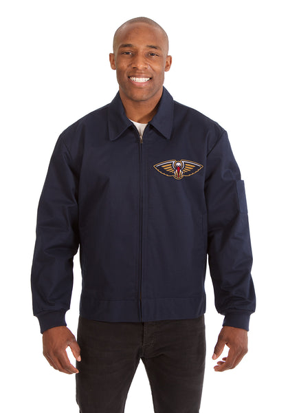 New Orleans Pelicans Cotton Twill Workwear Jacket - Navy