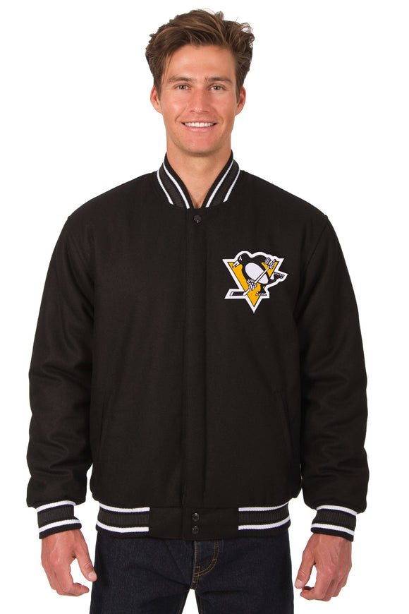 Pittsburgh Penguins Reversible Wool Jacket - Black