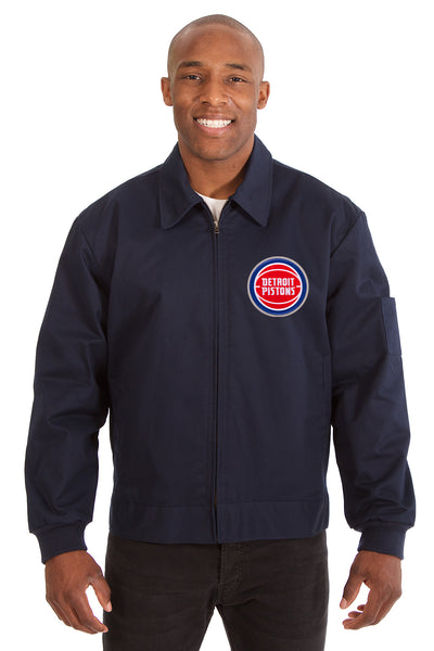 Detroit Pistons Cotton Twill Workwear Jacket - Navy