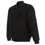 Carolina Panthers Reversible Wool Jacket - Black