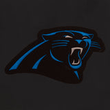 Carolina Panthers Reversible Wool Jacket - Black - JH Design