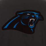 Carolina Panthers Poly Twill Varsity Jacket - Black - JH Design