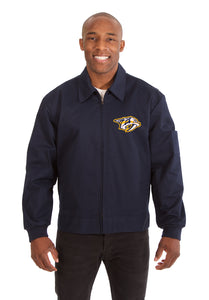 Nashville Predators Cotton Twill Workwear Jacket - Navy - JH Design