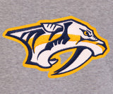 Nashville Predators Two-Tone Reversible Fleece Hooded Jacket - Gray/Navy - J.H. Sports Jackets