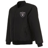Las Vegas Raiders Reversible Wool Jacket - Black - JH Design
