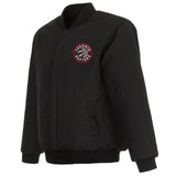 Toronto Raptors Reversible Wool Jacket - Black - JH Design