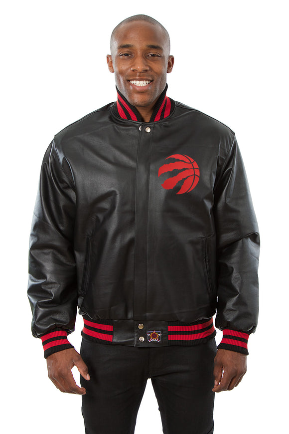 Toronto Raptors Full Leather Jacket - Black