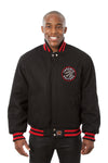 Toronto Raptors Embroidered Wool Jacket - Black