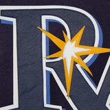 Tampa Bay Rays Two-Tone Wool Jacket w/ Handcrafted Leather Logos - Navy/Gray - JH Design