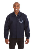 Tampa Bay Rays Cotton Twill Workwear Jacket - Navy - JH Design