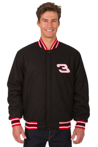 Dale Earnhardt Wool Varsity Jacket - Black/Red