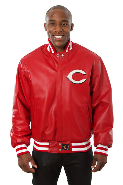 Cincinnati Reds Full Leather Jacket - Red