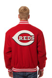 Cincinnati Reds Wool Jacket w/ Handcrafted Leather Logos - Red