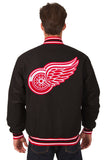 Detroit Red Wings Reversible Wool Jacket - Black - J.H. Sports Jackets