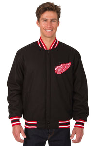 Detroit Red Wings Reversible Wool Jacket - Black - JH Design