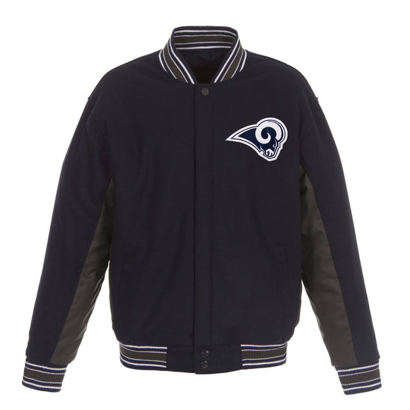 Los Angeles Rams JH Design Wool Reversible Full-Snap Jacket – Navy