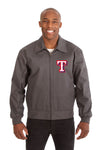 Texas Rangers Cotton Twill Workwear Jacket - Charcoal