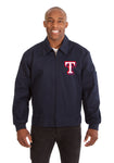 Texas Rangers Cotton Twill Workwear Jacket - Navy