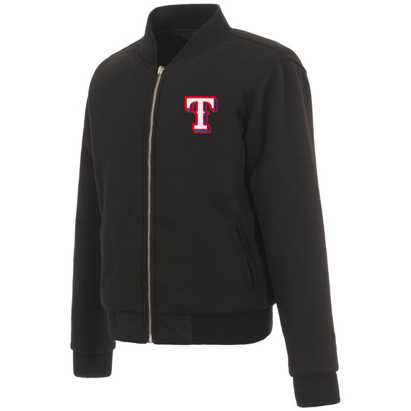 Texas Rangers JH Design Reversible Women Fleece Jacket - Black - JH Design
