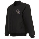 Colorado Rockies Reversible Wool Jacket - Black - JH Design